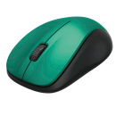 hama MW-300 Funk-Maus kabellos dunkelgrün leise