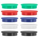 10 Magnete farbsortiert Ø 3,8 x 1,03 cm - 1,7 kg...