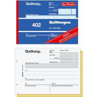 Quittungsblock DIN A6 2x 40 Blatt selbstdurchschreibend